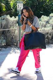 bag,Angela Simmons,sweater,crop tops,air jordan,pants,shoes