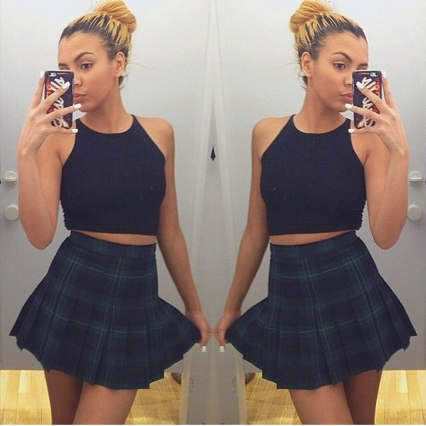 Skirt: plaid skirt, plaid, cute, style, aa, american apparel ...
