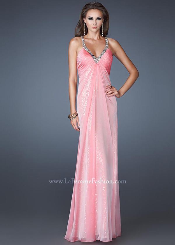 dress pink long prom dress