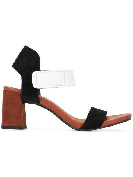 Pedro Garcia heel women leather suede black shoes