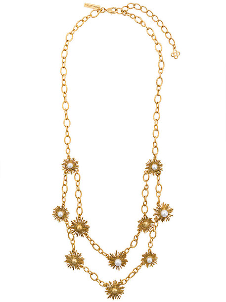 sun women pearl necklace grey metallic jewels