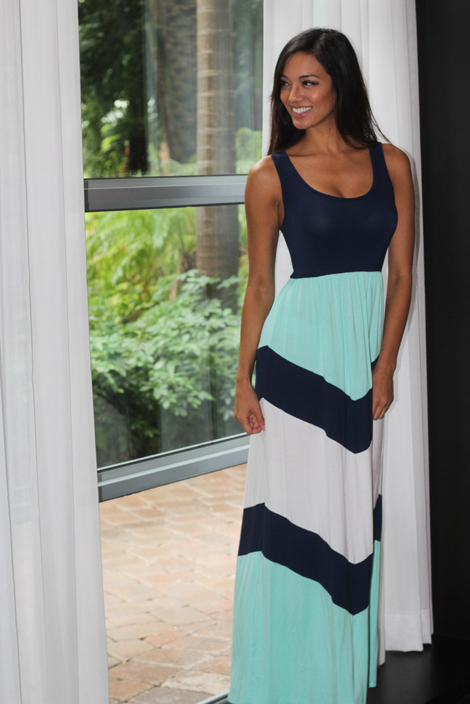 Chevron Maxi Dresses