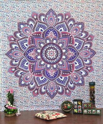 home accessory floral tapestry wall hanging mandala bedcover bedding living room decoration hippie throw hippie blanket beach throw beach blanket table runner sofa cover couch throw ethnic wall art wall decoration handmade tapestries indian tapestry wholesale tapestry holiday gift magical thinking wall hanging