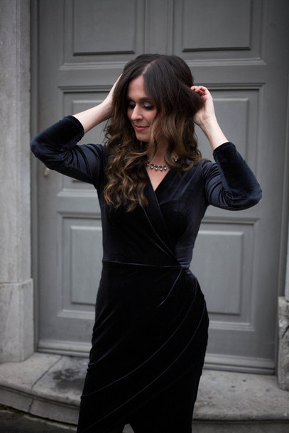 2e542d08d2 dress tumblr long sleeves long sleeve dress black dress midi dress  asymmetrical asymmetrical dress wrap dress