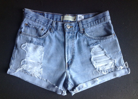 33 Levi Distressed Shorts by TayloredinFashion on Etsy