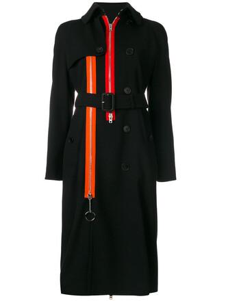 coat trench coat zip women spandex black wool