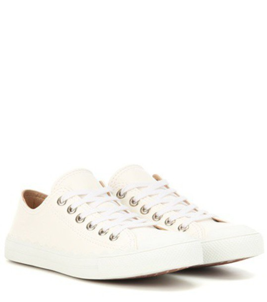 Chloe sneakers leather white shoes