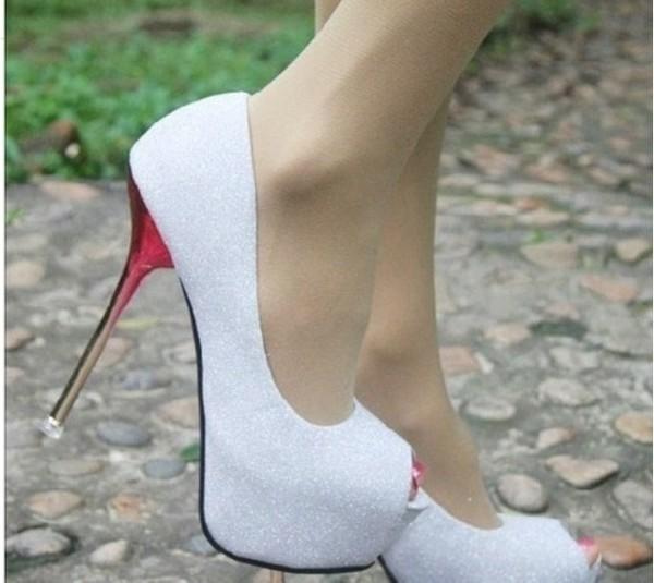 shoes high heels silver cute high heels