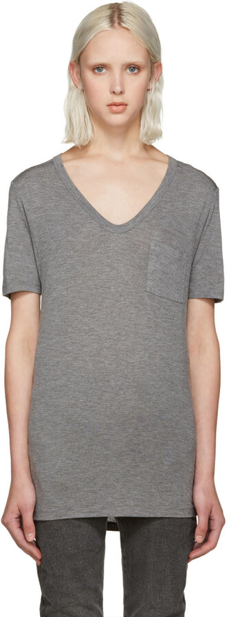 t-shirt shirt pocket t-shirt grey top