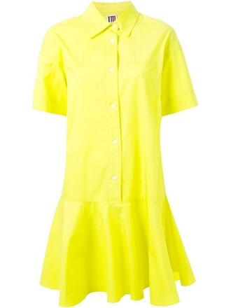 dress shirt dress women cotton yellow orange