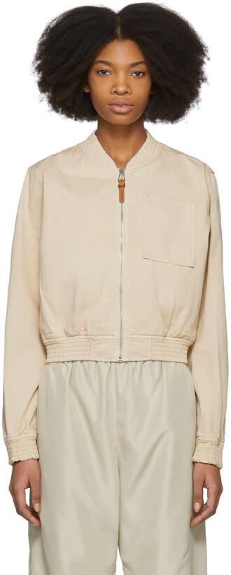 jacket bomber jacket cotton pink