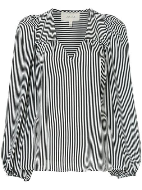 The Great blouse women black silk top
