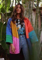 jacket,colorful,rocky barnes,instagram,spring jacket,spring outfits,blogger