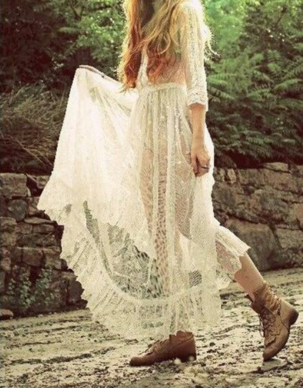 dress, boho, prom dress, indie, hippie, long, long dress, long prom ...