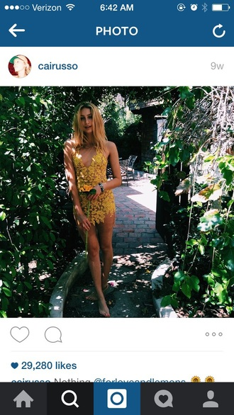 yellow floral outfit cailin russo