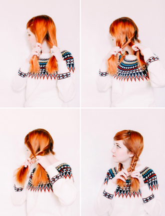 the clothes blogger hairstyles hair/makeup inspo red hair braid