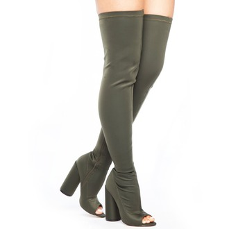 shoes boots olive green olive boots olive green boots flyjane thigh highs thigh high boots peep toe peep toe boots