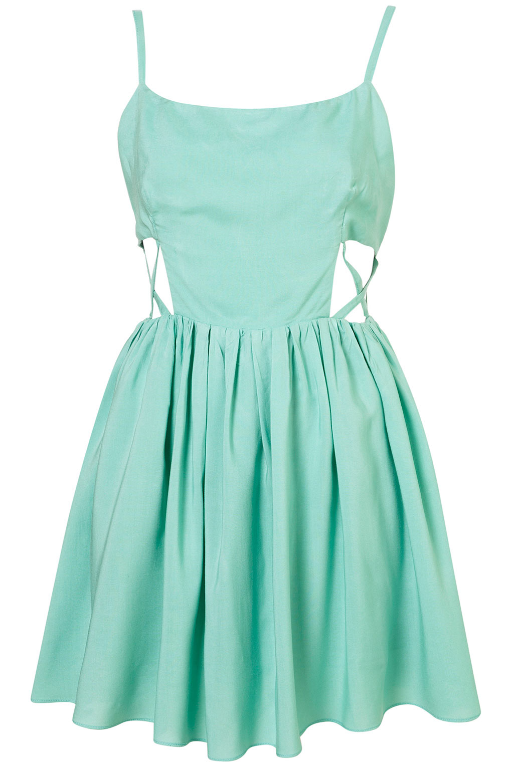 Topshop Green Melanie Dress By Goldie