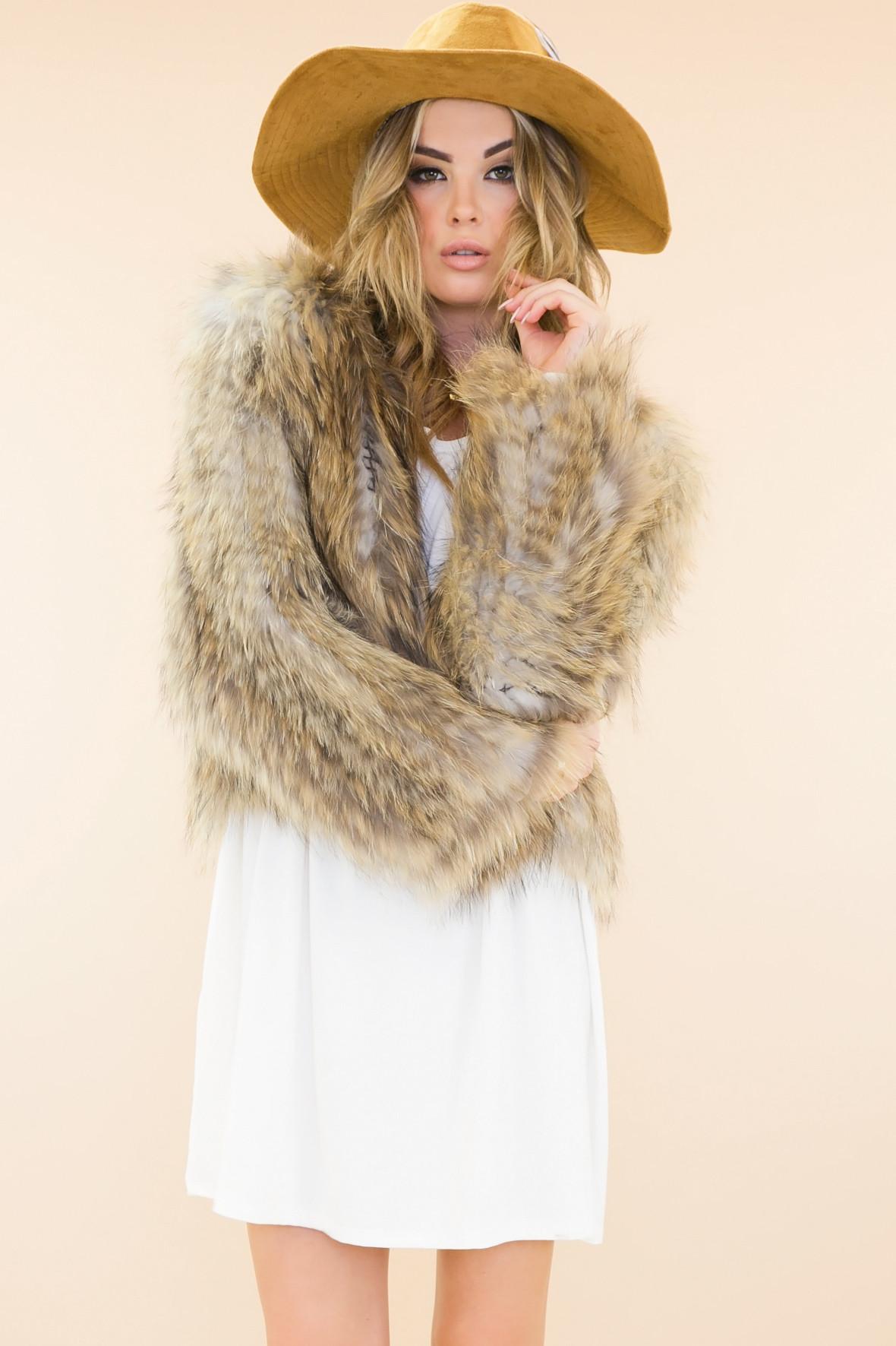 Yves raccoon fur jacket