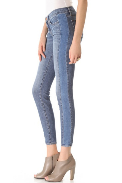 jeans j brand jbrand trendy designer fashion fabulous denim trendy jeans celebrity style steal skinny jeans patchwork shopbop