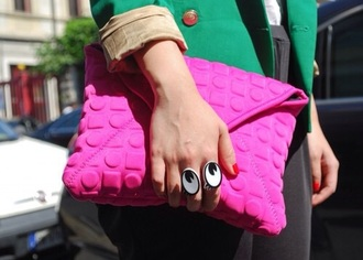 jewels ring pouch pink bag texture