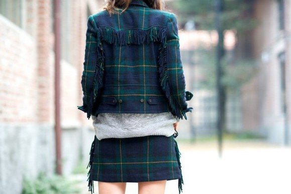 blogger jacket fringes my free choice tartan