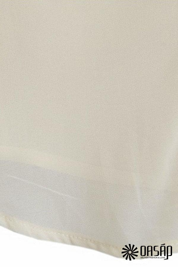 Sequined Short Sleeves Chiffon Shirt - OASAP.com
