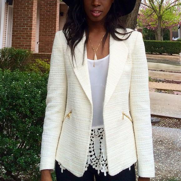 jacket cotton style blazer cream zara zara jacket fashion all cute outfits white dress white