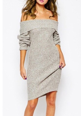 sweater dress girly girl girly wishlist off the shoulder sweater dress