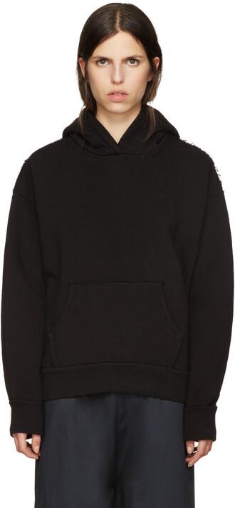 hoodie black sweater