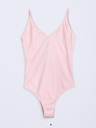 swimwear pink one piece swimsuit summer