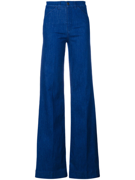 Victoria Beckham jeans women spandex cotton blue