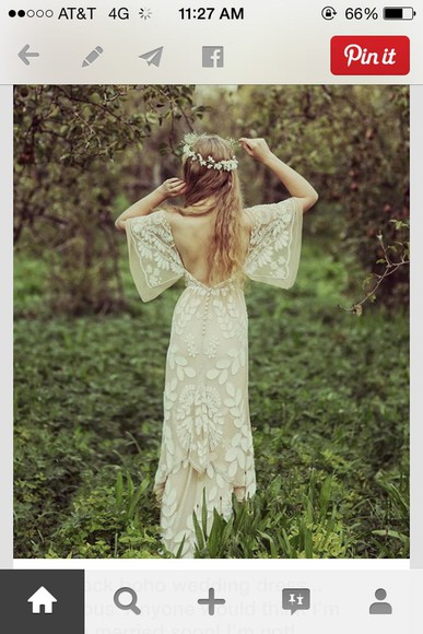 hipster wedding wedding clothes wedding dress lace dress flowers