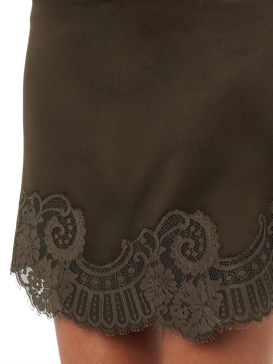 Birmingham lace-trimmed mini skirt | Vanessa Bruno | MATCHESFA...