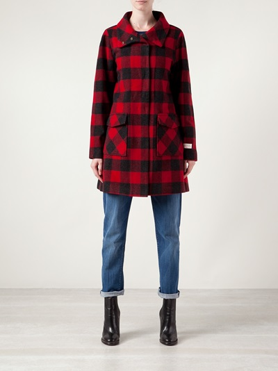 Woolrich Buffalo Plaid Coat - Glow - Farfetch.com