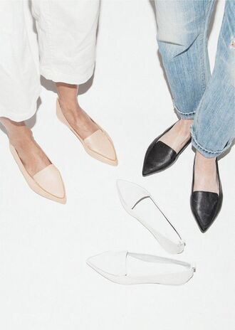 shoes loafers minimalist black shoes nude shoes white shoes
