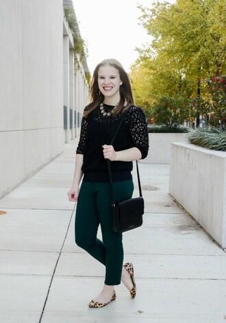somethinggood blogger top pants shoes bag jewels black sweater shoulder bag black bag flats ballet flats