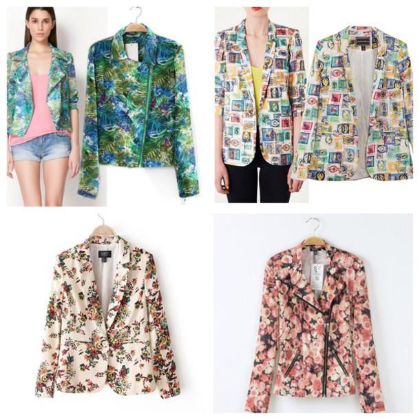 jacket floral jacke@#bershka