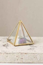 home accessory,triangle,geometric,hipster,glass,gemstone,gold,metallic home decor,home decor