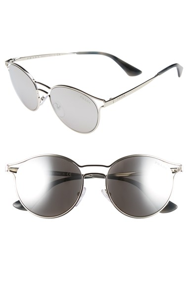 Prada 53mm Round Sunglasses | Nordstrom