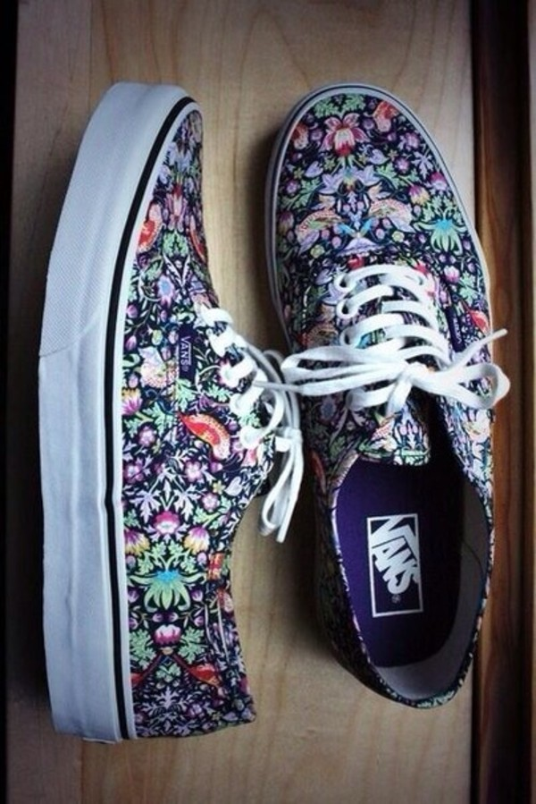 shoes jewels vans flowers in love