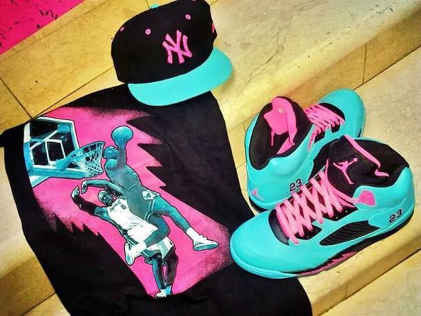 promo code b28a3 5e9ea shoes sneakers nike sneakers torquise hat yankees new york city new yorker  yankees new era hat