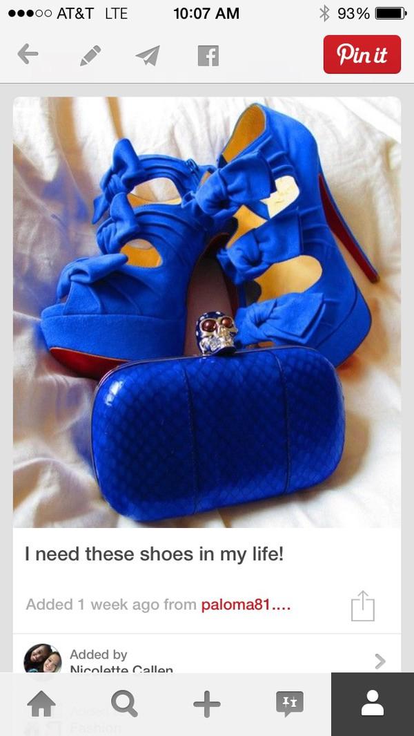 royal blue high heels royal blue bow shoes high heels shoes blue high heels