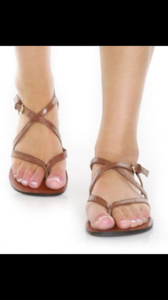 shoes brown gomax strappy sandals