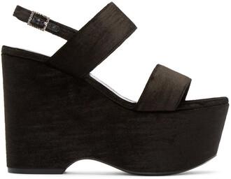 candy sandals black shoes