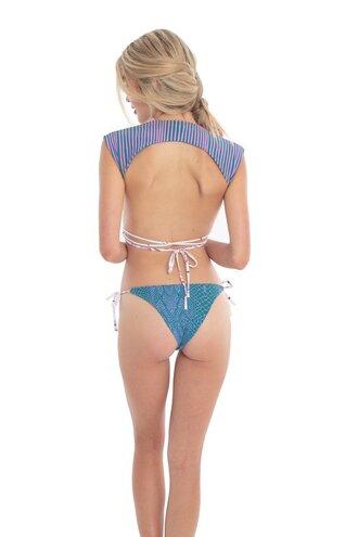swimwear seamless reversible two piece digitally printed lycra fabric revel rey reversible bottom