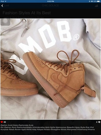shoes nike air max jordan nike air force nike air force 1 mid brown beige velcro adidas superstar white omob sneakers boots swoosh tumblr cool grunge brandy melville wheat nike air nike shoes suede nike sneakers high top sneakers