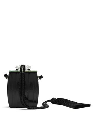 clutch marble black bag