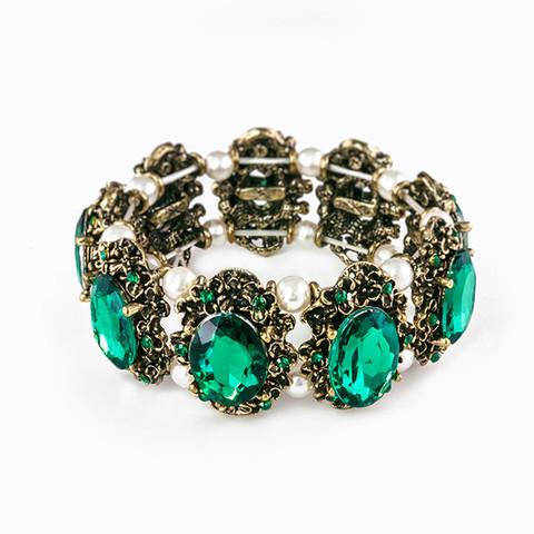 Vintage Pearl Rhinestone Bracelet