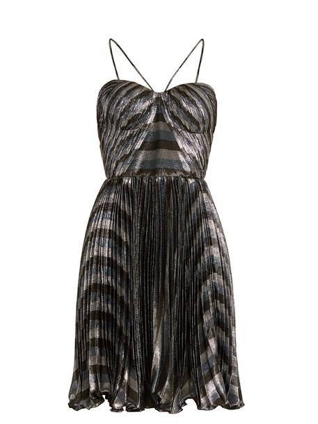 Maria Lucia Hohan dress mini dress mini pleated silver